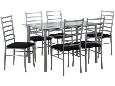 High Quality LPD Lincoln 6 Seater Dining Set 1 Clear Glass Dining Table 6 Chairs 146  Best Dining Set Images On Pinterest