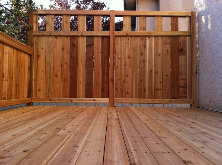 Deck privacy fencing ideas decking designs and decking for Wood privacy screens for decks