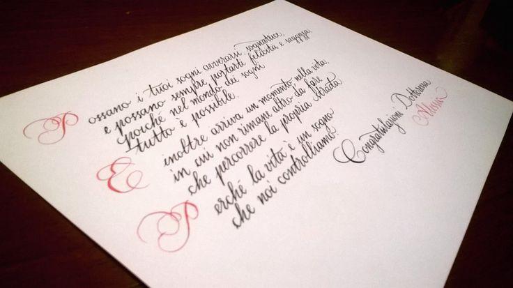 Bella Scrittura | Calligrafia corsiva. Cancelleresca e corsivo inglese