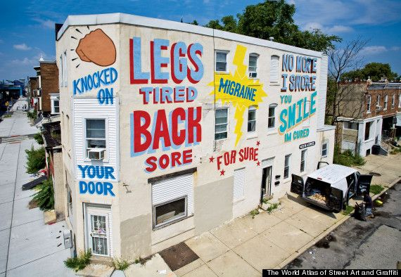 "Philadelphia, PA:  ""Love Letter"" mural by Espo aka Stephen Powers in Philadelphia in 2009. (Photo courtesy Adam Wallacavage)"
