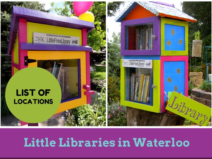 Where to find a little library around the neighbourhoods in Waterloo Ontario (newtowaterloo.com)