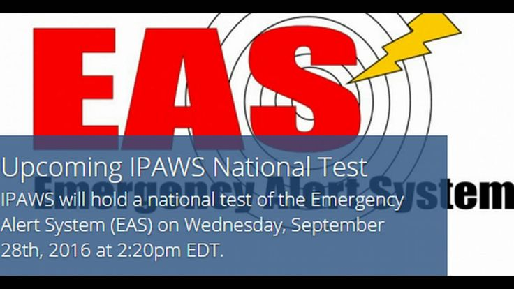 FEMA's IPAWS To Hold National Test of Emergency Alert System Today