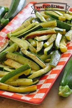 Roasted Zucchini. Quick and Easy Roasted zucchini in the oven - Food Hero #vegan #dairyfree