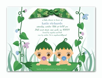 Twins Baby Shower Invitations!