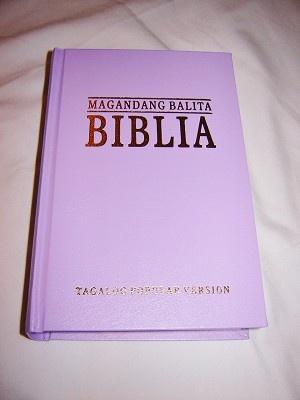Tagalog Bible Popular Version / Magandang Balita Biblia TVP 033 P / Biblia na isinalin sa Wikang Tagalog / PURPLE HARDCOVER / Philippine
