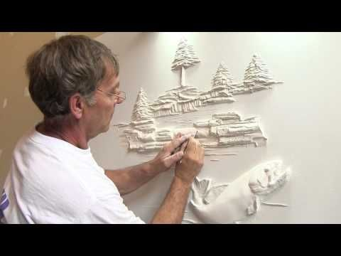 Bernie Mitchell demonstrates how he transforms empty wall space by adding some relief sculpture to it.