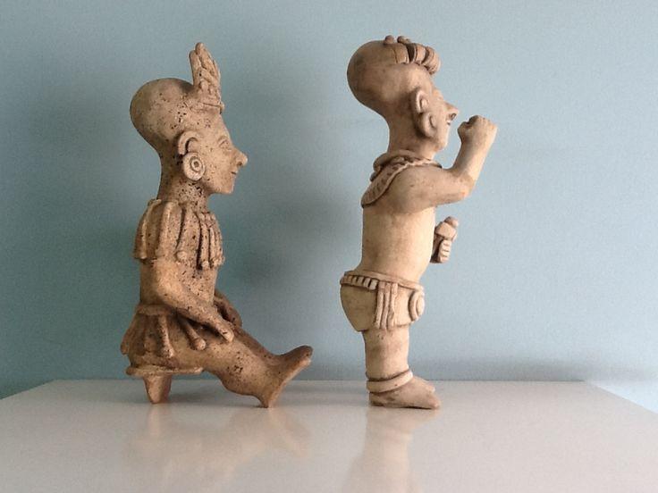 "Arte Precolombino. Cultura Tumaco. Cabezas con deformidad tipo ""Nefertiti""."
