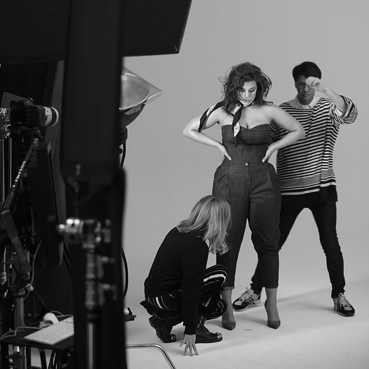 "#MarinaRinaldi - ""It has been an incredible adventure working together and be able to express myself in a collection dedicated to women."" Peep behind the curtains of the SS18 Campaign with #AshleyGraham"