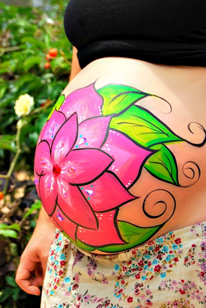 Belly painting.