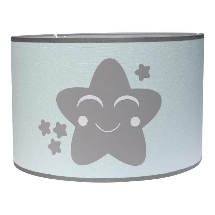 Lamp ster in mintgroen en grijs. Leuk voor op de jongens en meisjes babykamer en kinderkamer Kinderlamp lampenkap hanglamp baby kind sterren