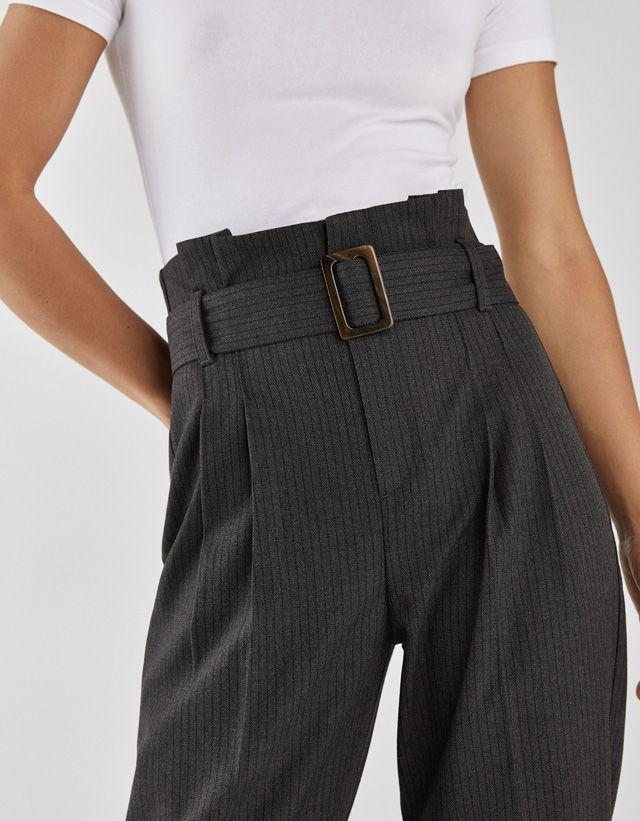 Pantalon Paperbag Ropa Pantalones Bershka Moda Alternativa