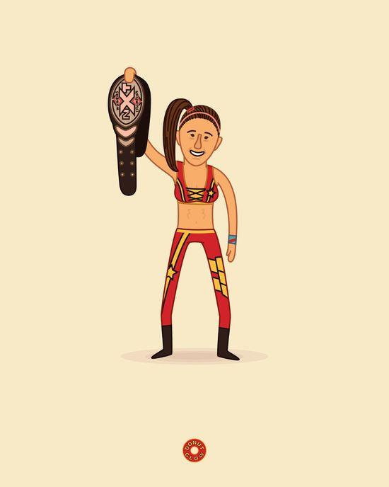 Bayley - NXT Pro Wrestler Illustration Art Print