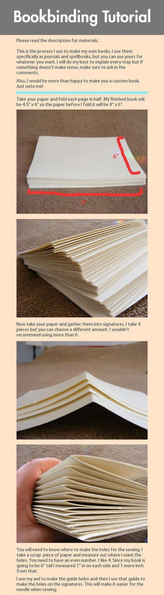 Bookbinding Tutorial I could totally make this