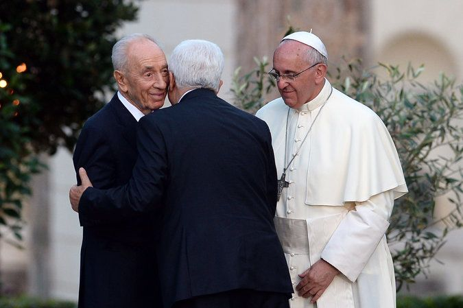 At Vatican, Day of Prayer With Focus On Uniting - NYTimes.com.  Pope Francis, President Abbas, President Shimon Peres.  06082014