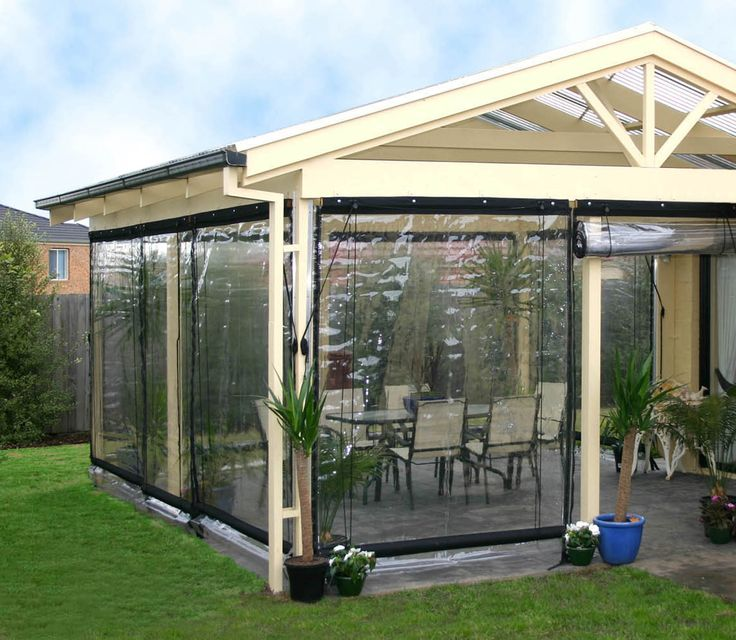 outdoor bistro shp 180x240cm clr pvc blk bi1824 bunnings warehouse