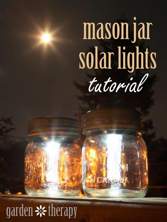 love solar mason jars - maybe add glitter to inside of jars