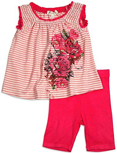 9a3faeb3dd08 Baby Sara Little Girls Tank Short Set - 3 Styles and Colors Available