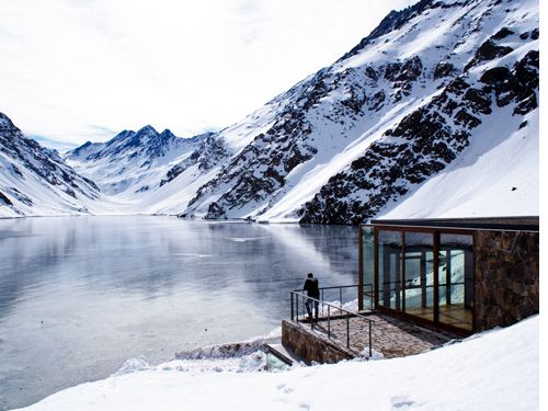 ... the Mountain Refuge Chalet C7 in the Andes mountains, Chile