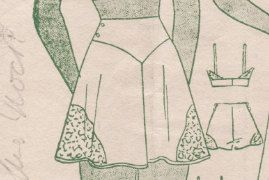A Few Threads Loose: Lingerie Sew-Along: Tap Pants Lace Inset and Front/ Back Facings, Part 10