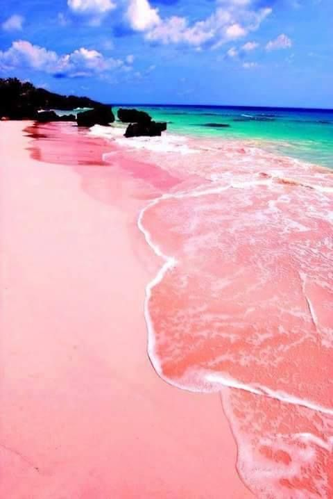 It looks like the wild dream of a My Little Pony loving eight year old, but the sand of Elafonissi in Crete is pink due to coral fragments and dust.