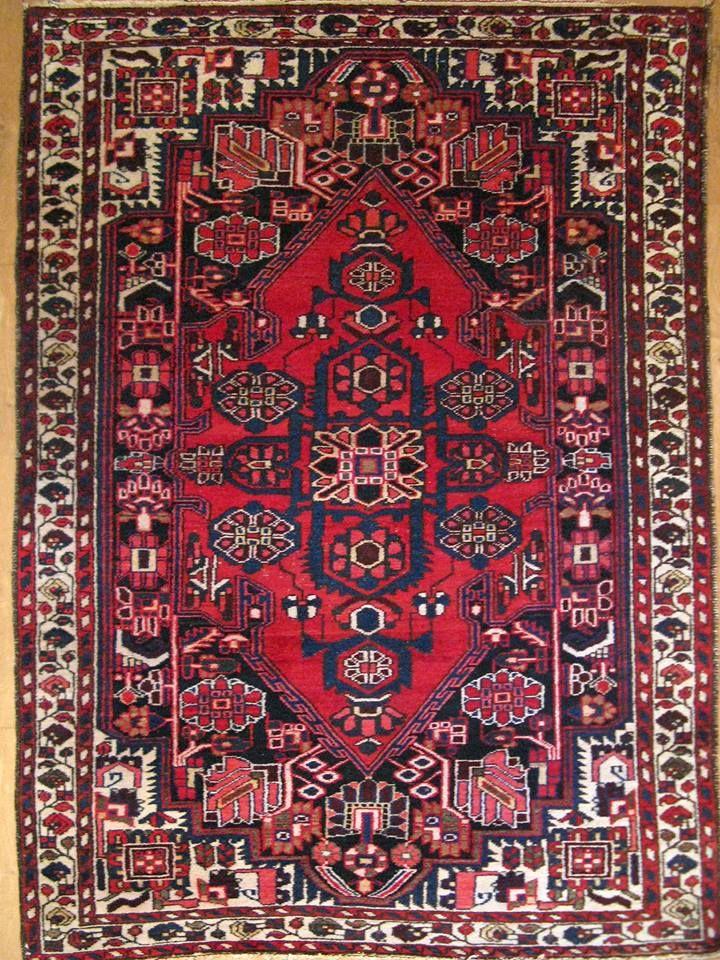 Антикварный персидский ковер «Бахтияр» 40 гг XX в