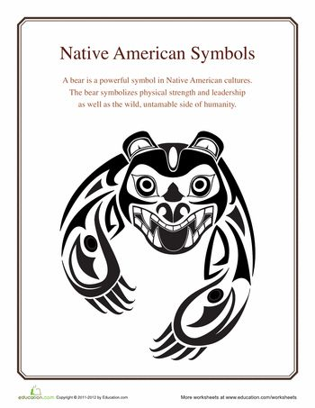 Worksheets: Native American Symbols: Bear