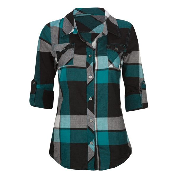 FULL TILT Large Plaid Womens Shirt ($20) ❤ liked on Polyvore featuring tops, shirts, plaid, blusas, women, buffalo check shirt, buffalo plaid shirt, button front shirt, plaid shirt and blue plaid shirt
