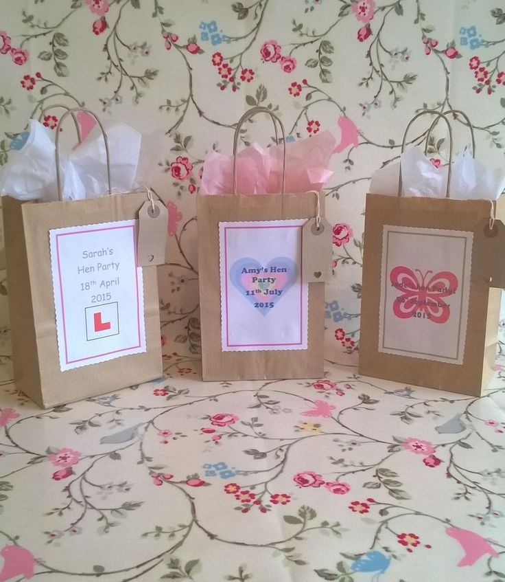 Beautiful personalised hen do/party bags/ vintage style