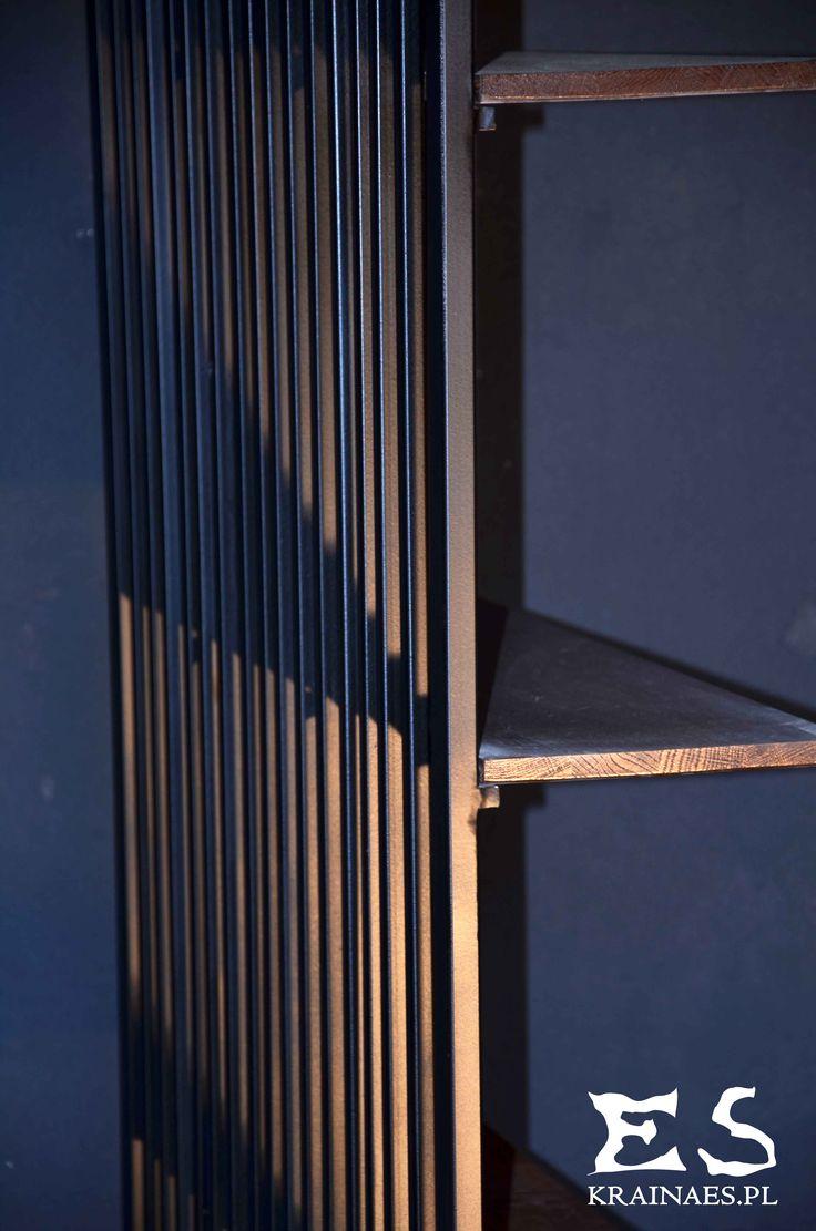 Shelve, bookstand, regał, regalik, iron, wood, metal, drewno, drzewo, stal, industrial, minimalism, music, audio, CUSTODY SUITE, Kraina ES #shelve, #minimalistshelve, #minimalistfurniture, #regał, #szafka