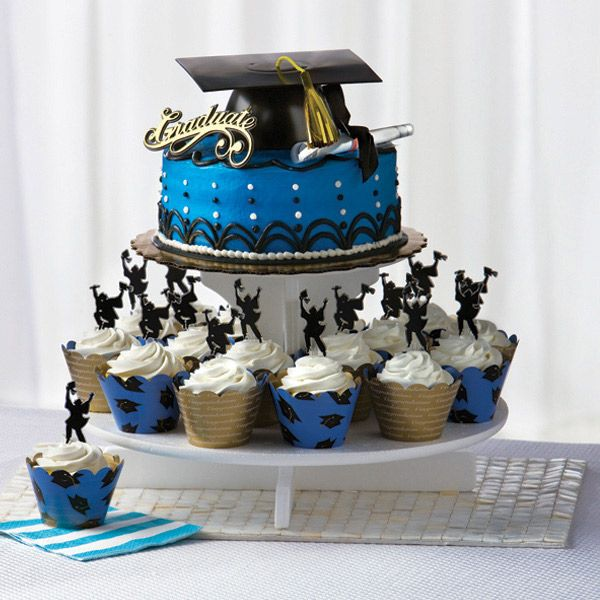 graduation cupcake cakes | Graduation: Grad Cake/Cupcake Combo