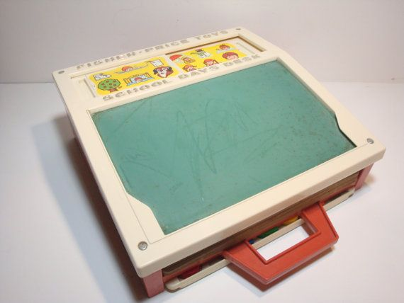 Vintage Fisher Price Toys School Days Desk