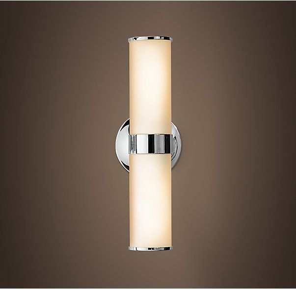 rh sutton double sconcesutton brings a quality hotel aesthetic to your bath - Double Sconce Bathroom Lighting