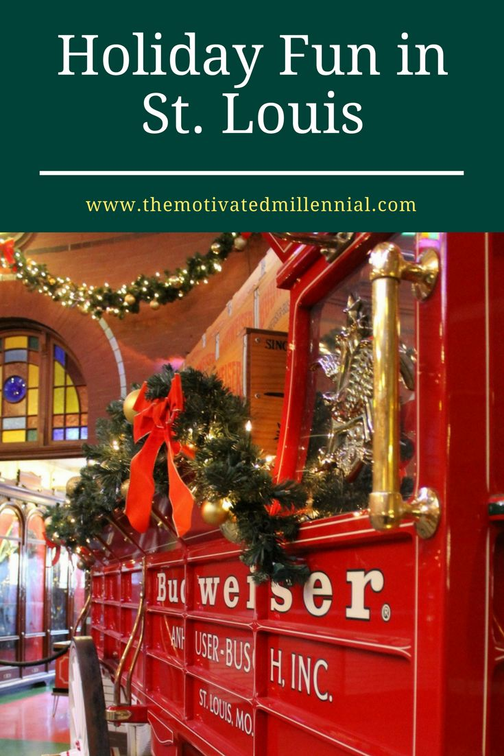 Spend Christmas in St. Louis - tour a brewery, meet the Budweiser Clydesdales, visit one of the world's most beautiful cathedrals! #holidaytravel #missouri
