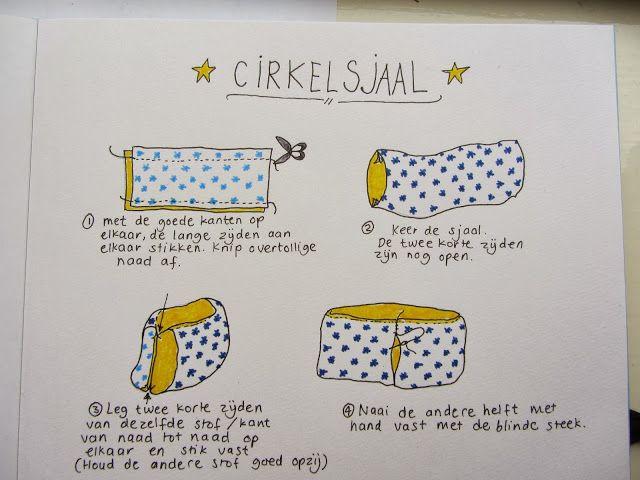 Juffrouw Groen: DIY kerstcadeau: Cirkelsjaal.