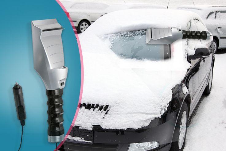 Heated Ice Scraper with Flashlight
