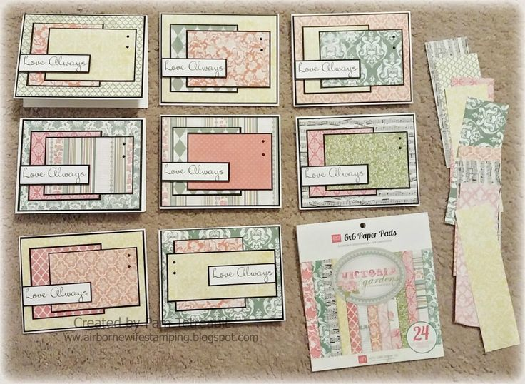 Paper Pads For Card Making Part - 18: After Making A Bunch Of Miss You Cards From A 6 X 6 Paper Pad,