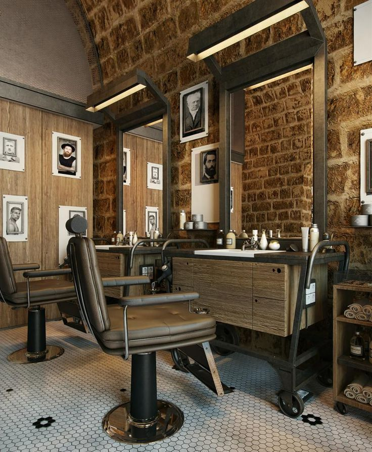 169 best barber shop interior design ideas images on for Hair salon interior design photo