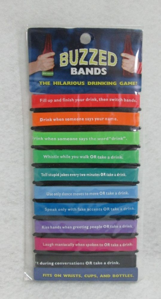 Buzzed Bands Drinking Game Ez Fun Party Bar Bachelor Guys Card Night Novelty