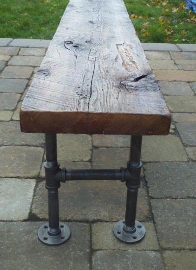 Barnboardstore.com - industrial farmhouse bench