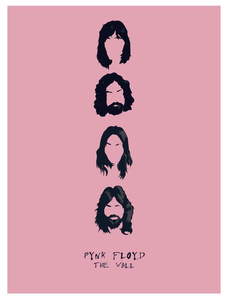 Famous Band - Pynk Floyd  #illustrator #vectorgraphic #famousband #pinkfloyd #illustration #carachters