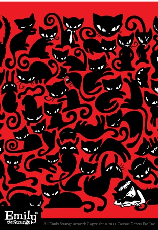 Emily the Strange Cat Nap Print