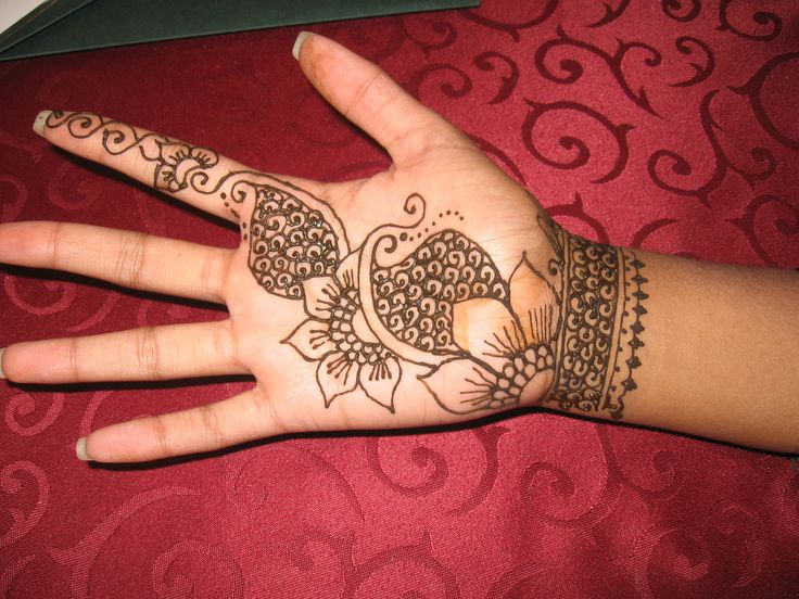 Mehndi Designs For Palms Easy : Henna on palm and wrist pinterest