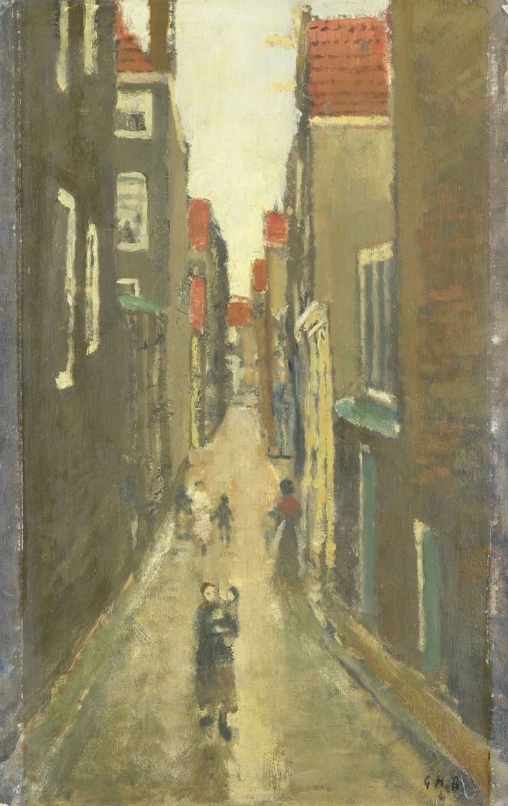 Buurtje in de Amsterdamse Jordaan, George Hendrik Breitner, 1880 - 1923