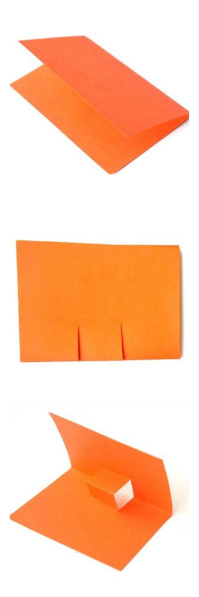 folding a pop-up card • Artchoo.com