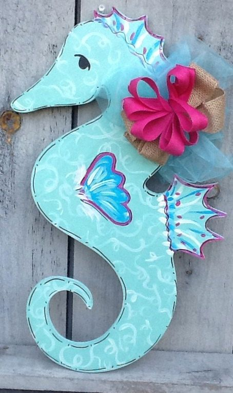1000 Ideas About Seahorse Crafts On Pinterest Shell Art