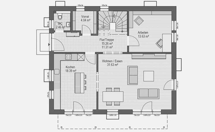 884 besten haus grundriss bilder auf pinterest hauspl ne for Optimaler grundriss einfamilienhaus