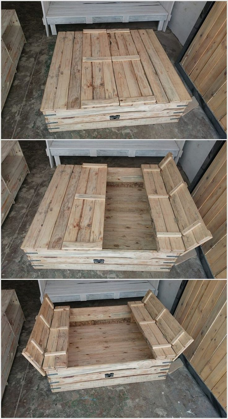 Wood Pallet Sandbox for Kids