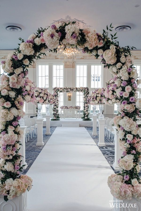 A Pastel Paradise Wedluxe Magazine Church Wedding Decorations Aisle Weddings Decorations Elegant Romantic Wedding Decor Elegant