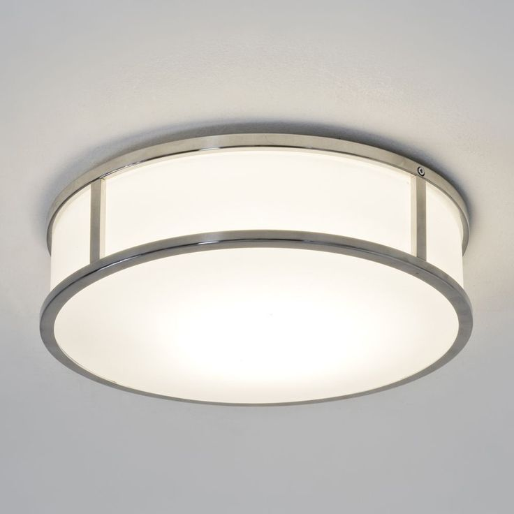 Pic On The Mashiko Round Ceiling Light has a Polished Chrome Finish with a White Opal Glass