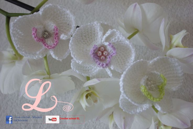 Video tutorial and schemes how to crochet orchid, tunisian crochet.